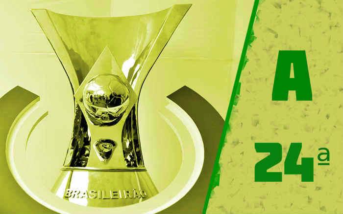 A classificação da Série A de 2021 após a 24ª rodada; Fortaleza segue no G4