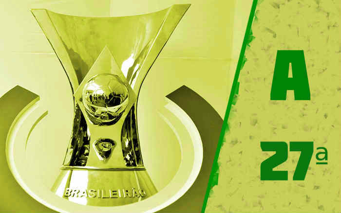 A classificação da Série A de 2020 após a 27ª rodada; sem nordestinos no Z4