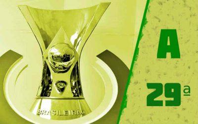 A classificação da Série A de 2020 após a 29ª rodada; Ceará de volta ao top ten