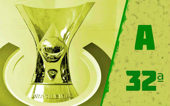 A classificação da Série A de 2020 após a 32ª rodada; Bahia de volta ao Z4