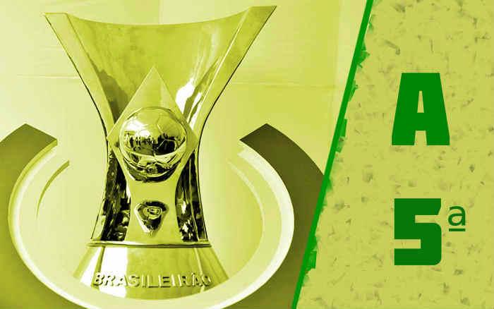 A classificação da Série A de 2021 após a 5ª rodada; nenhuma vitória nordestina