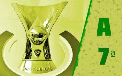 A classificação da Série A de 2021 após a 7ª rodada; Bragantino dispara na ponta