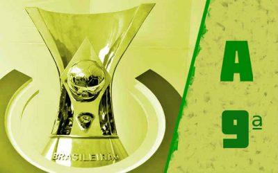 A classificação da Série A de 2021 após a 9ª rodada; 3 times do Nordeste no top 10