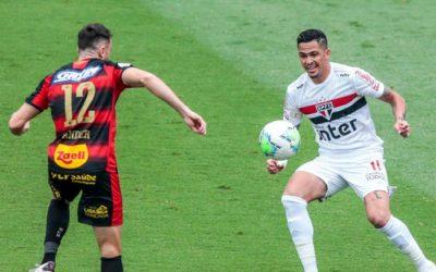 Sport perde do líder São Paulo em SP e sofre o 4º revés seguido. Ainda fora do Z4