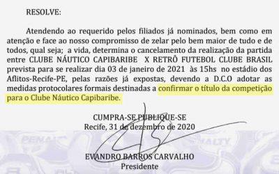 Sub 20 | Náutico é campeão pernambucano após escalação irregular do Retrô