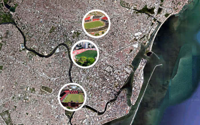 A reavaliação dos patrimônios de Santa, Náutico e Sport em 2020; R$ 251 milhões a mais