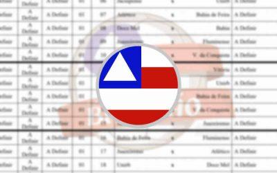 A apertada tabela do Campeonato Baiano de 2021; clássico Ba-Vi em Pituaçu