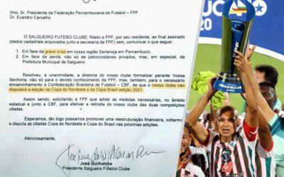 Em crise, Salgueiro desiste do Nordestão e da Copa do Brasil. E de R$ 1,1 milhão… Faz sentido?