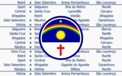 Em cima da hora, a tabela do Campeonato Pernambucano de 2021; rodadas espaçadas