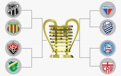 O mata-mata da Copa do Nordeste de 2021, com o caminho das quartas à decisão. Favorito?