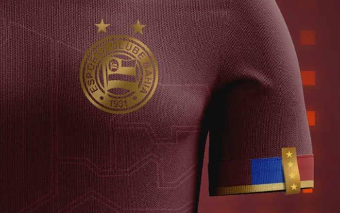 O uniforme especial do Bahia para 2021 em homenagem ao tetra da Copa do Nordeste