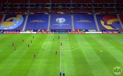 TV   As audiências da estreia da Seleção na Copa América, no SBT; Recife liderou no país
