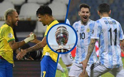 """Brasil e Argentina decidem a Copa América pela 4ª vez. Pelo """"deca"""" ou pelo fim do jejum"""