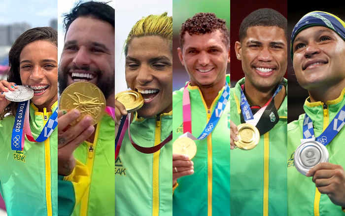 Time Brasil quebra recorde de medalhas em Tóquio com imensa colaboração do Time NE