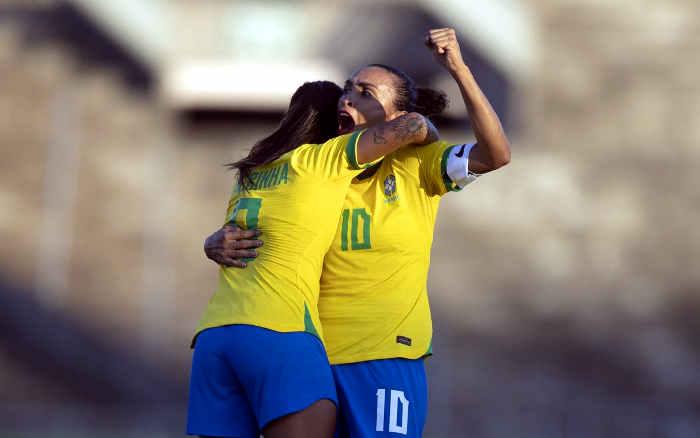 Marta chega a 117 gols pela Seleção, com o 11º no Nordeste; Brasil segue 100% na região