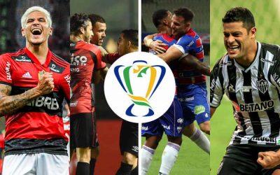 Semifinal da Copa do Brasil 2021 com Flamengo x Athletico e Fortaleza x Galo