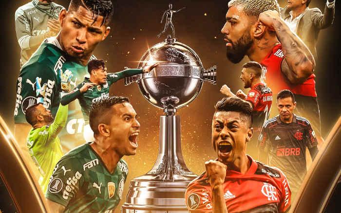 Palmeiras x Flamengo, a 4ª final brasileira na Libertadores; vale o tri em Montevidéu