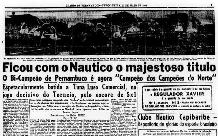 Náutico - Torneio dos Campeões do N-NE de 1952
